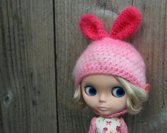 Blythe hat....fluffy bunny