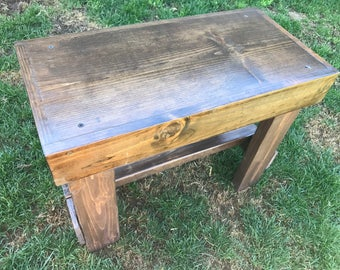 Small Rustic Wooden Bench