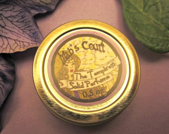 The Temptress - Solid Perfume with Notes of Geranium, Amber, and Musk