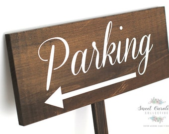 Ceremony Parking Wedding Sign - Wooden Wedding Sign WS-73