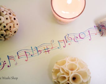 Colorful Music Note Washi Tape(30mm x 5m)