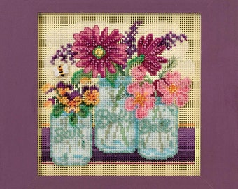 Cross Stitch Kit - Cut Flowers