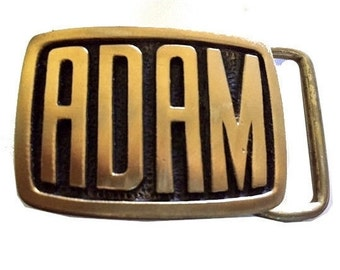 Vintage Adam Name Belt Buckle - Gift Ideas for Him - Personalized