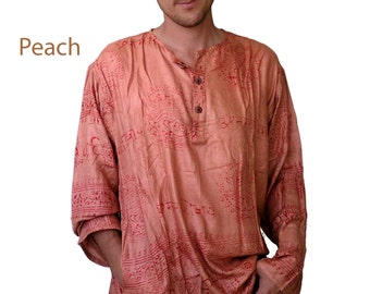 Oum shirt -  Ethnic Tribal men's shirt - Assorted colors - cotton