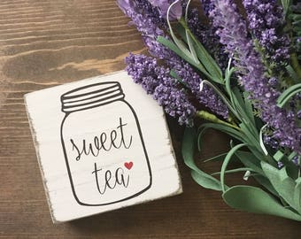 Sweet Tea Sign - Kitchen Sign - Mason Jar Sign - Rustic Wedding Decor