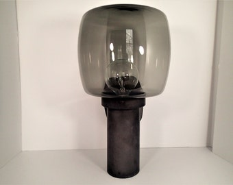 Mid Century Outdoor Industrial lighting smoke glass globe, double socket, outdoor lighting sconce fixtures, 3 available