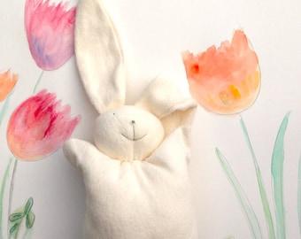 Organic baby bunny, organic bunny, rabbit plush toy