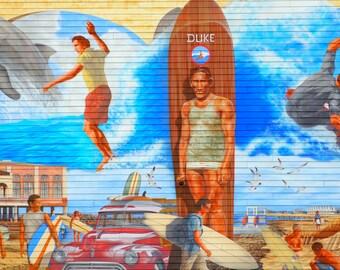 Duke Kahanamoku Mural Ocean City New Jersey Surfing Shore Jersey Shore Beach Print Photography Canvas Wall Art