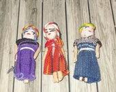 SPRING BONANZA 40% OFF Dollhouse miniature vintage trio of tribal women