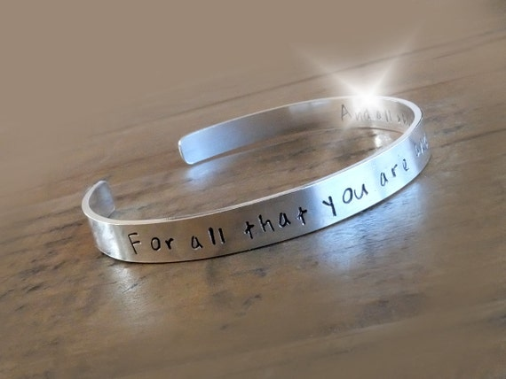 Mothers Day Gift, Personalised Gift for Mum, Gift for Mom, Personalised Silver Bangle, Bracelet with Message, Childrens Names Bangle, Cuff