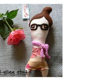 Handmade Personalized plush doll. Customized rag doll. Custom made