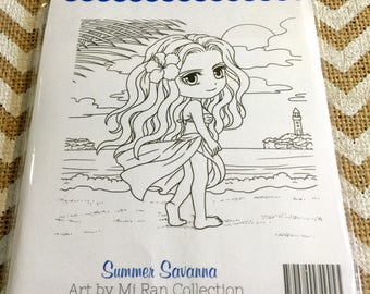 Summer Savanna Mi Ran Jung for Whimsy Stamps USA Made