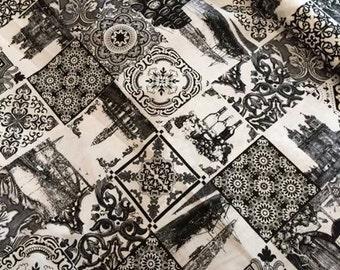 Portuguese tradicional tiles, portuguese fabric,  cotton