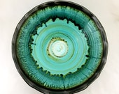 Turquoise Blue Salad Bowl 5.5 x 15 in.