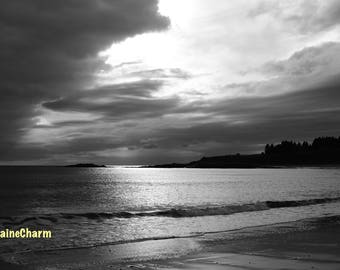 Storm Moving In, Black and White Photo, Matinicus Island, Maine Photography
