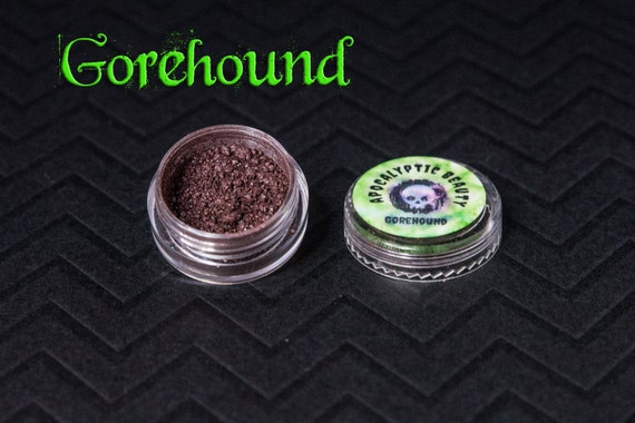 Gorehound - vegan chocolate eyeshadow with blue shift