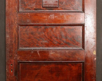 "38""x88 Antique Vintage Solid Wood Wooden Door Stacked Horizontal Panel Speakeasy"