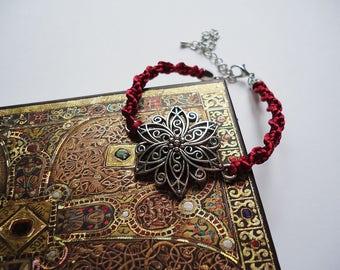 Eternal Rose Beauty and the Beast Inspired Braided Bracelet - Gift For Her