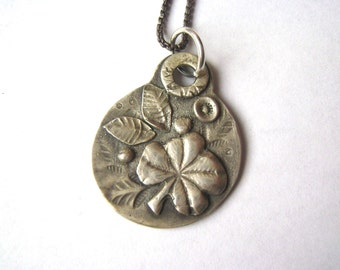 new sterling clover pendant necklace
