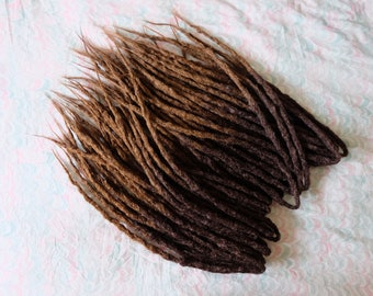 READY TO SHIP - Set of 35DE Brown Ombre Crochet Synthetic Dreadlocks
