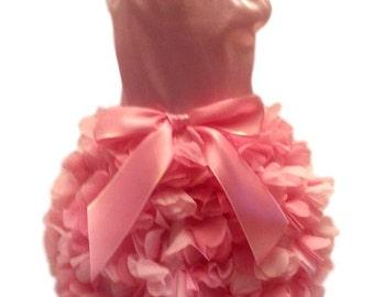 Dog Dress, Dog Clothing, Dog Wedding Dress, Pet Clothing, Pink Satin Ruffles