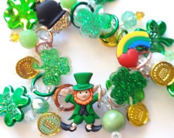 St. Patrick's Day bracelet/Beadiebracelet