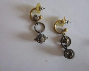 Vintage Brass Dangle Earrings India