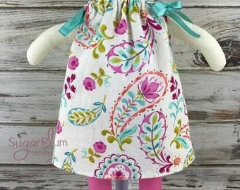 Cloth Doll Ribbon Tie Dress - Fabric Doll - Dress Up Doll - Handmade Doll - Rag Doll - Room Decor - Heirloom Doll