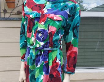 vintage 80s colorful set short and jacket by Esprit collection