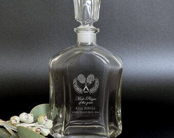 1x Engraved Deluxe Whiskey Decanter Corporate Trophy Gift