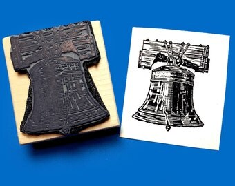 Liberty Bell Rubber Stamp