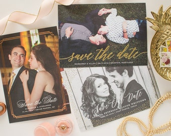 Foil Save the Date Sample Pack | Save the Dates with Foil Stamping