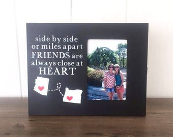 Long Distance Friend Picture Frame, Going Away Gift for Friend, College High School Graduation Gift, Friend Moving Away, Going Away Present
