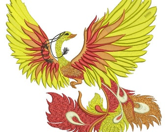 Firebird / Phoenix  - Machine Embroidery Design
