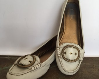 Vintage Leather Coach Loafers, size 7.5