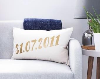 Personalised Date Wedding Cushion - Personalised Cushion - Custom Cushion Cover - Date Cushion - Scandinavian Cushion - Anniversary Gift