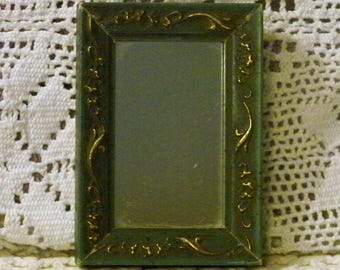 Miniature Hanging Wooden Mirror / Dollhouse MIrror