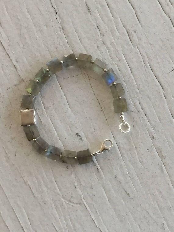 Labradorite Mandrian Bracelet.  Handmade and OOAK by ladeDAH! Jewelry.