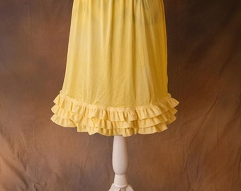 Three Layer Yellow Ruffled Skirt/Dress Extender