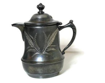 Vintage Silverplate Syrup container Bristol Plate Co 1753