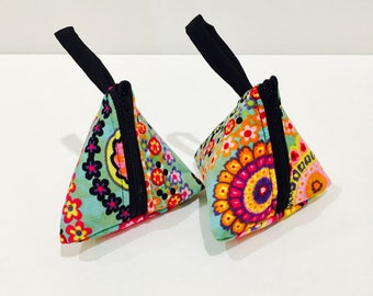 Floral Triangle Pouch