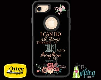 Monogrammed OtterBox Defender, iPhone 7/7 Plus, 6/6S & 6/6S Plus, iPhone 5/5S/SE/5C, iPod Touch 5/6, Galaxy S7/S6/S5/S4/Note 5/4, Scripture
