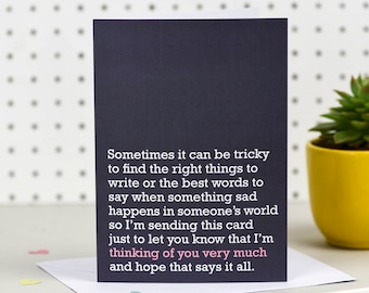 Thinking Of You Very Much - Sympathy Card