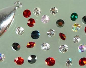 30 colored imitation stones, Rhinestones, tapered 4, 8 mm SS20