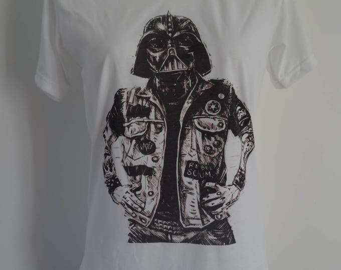 Women's Tattooed Darth Vader T-Shirt - UK 12 14 16 - Stormtrooper Tattoo Alternative
