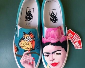 "Custom Vans Shoes ""FRIDA KAHLO"""