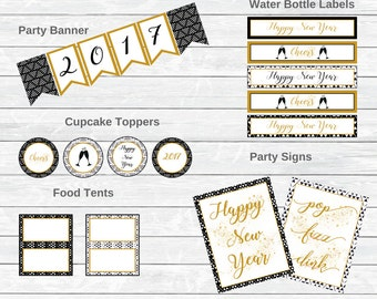 New Years Eve Decorations - new years eve party - new years eve party kit - nye decor - nye party - nye decorations - nye 2017