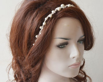 Pearl Headpiece, Pearl Bridal headband, Bridal Hair Accessories, Hair Accessories Wedding, Hair Jewelry
