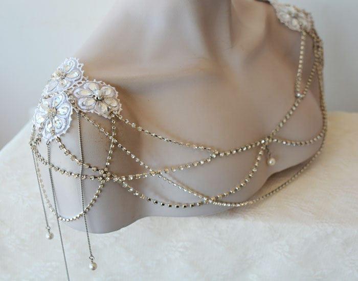 Wedding Dress Shoulder Wedding Shoulder Necklace Bridal