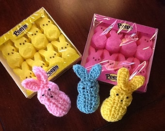 Easter peeps. Set of three. Marshmallow looking peeps. Great for Easter basket